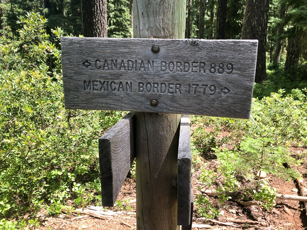 Distance to the borders PCT in Oregon