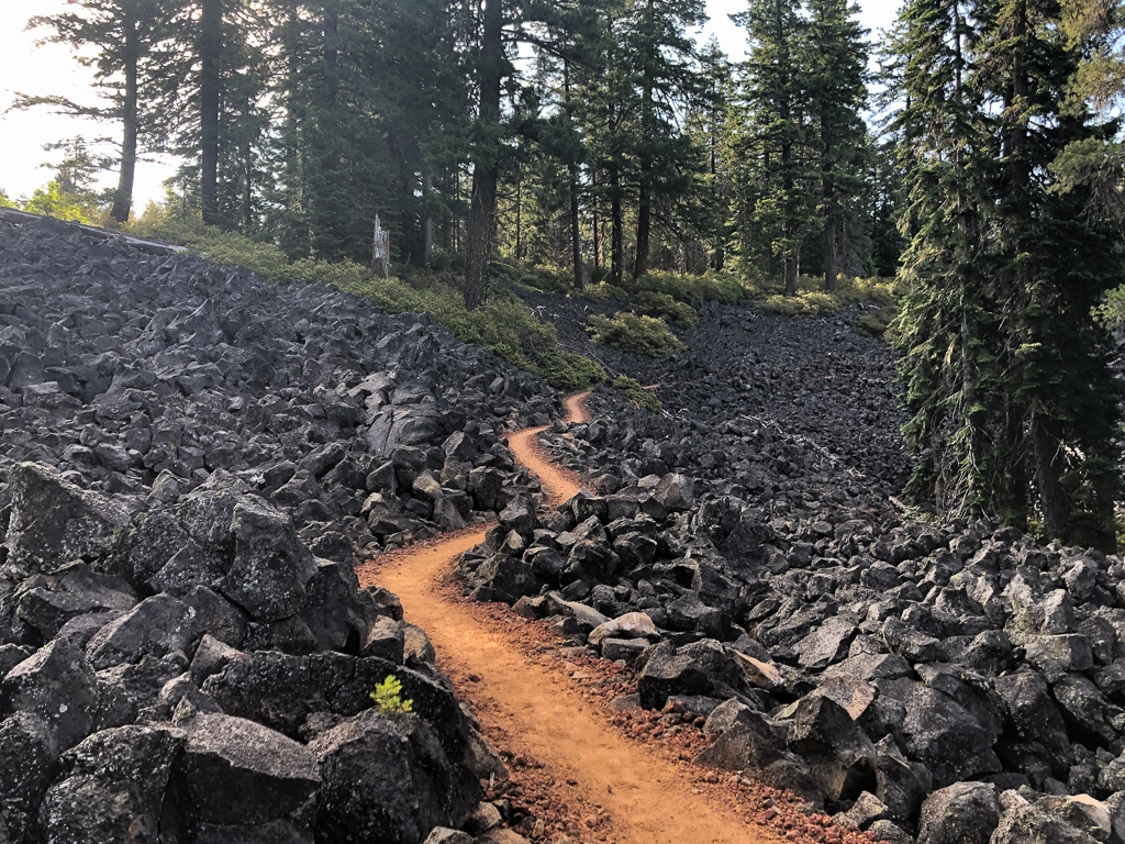 Lava rock PCT Oregon