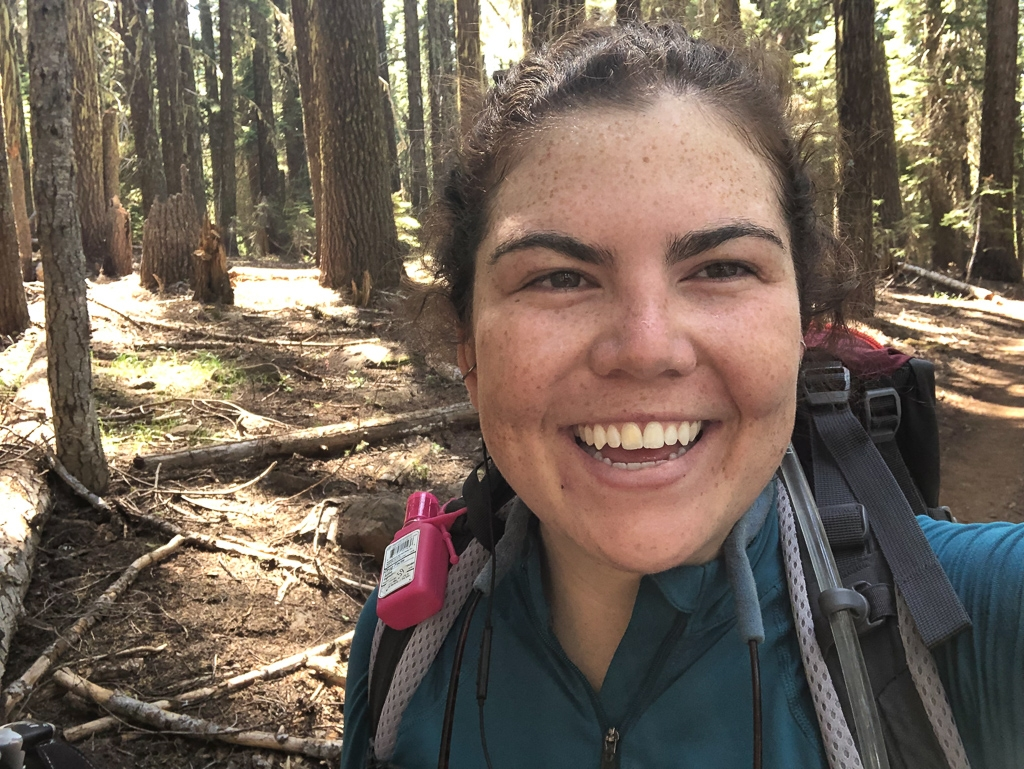 Still Smilin after a long day of PCT hiking