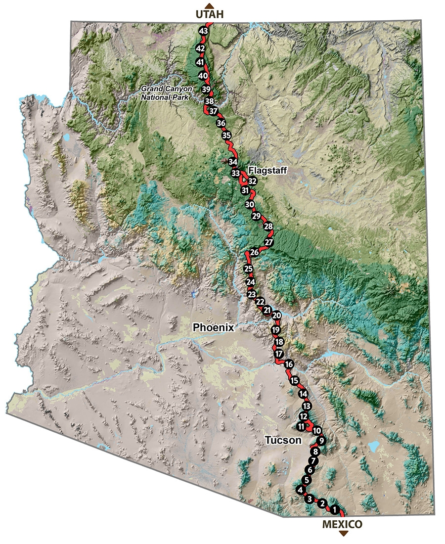 Tall Pines, Cactus, and One Big Ditch - The Arizona Trail - The Trek