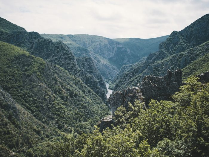 hiking in north macedonia - canyon matka
