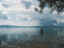 hiking in north macedonia - lake ohrid