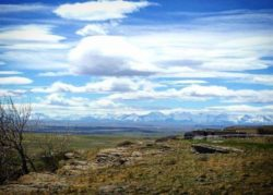 Canadian Rockies from Head Smashed in Buffalo Jump