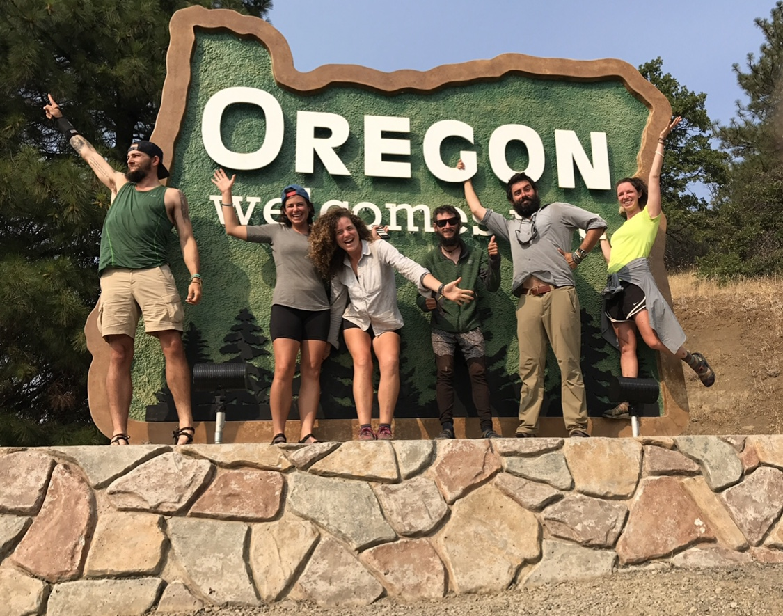 Hikers cross into Oregon via a different route, due to wildfires in 2017.