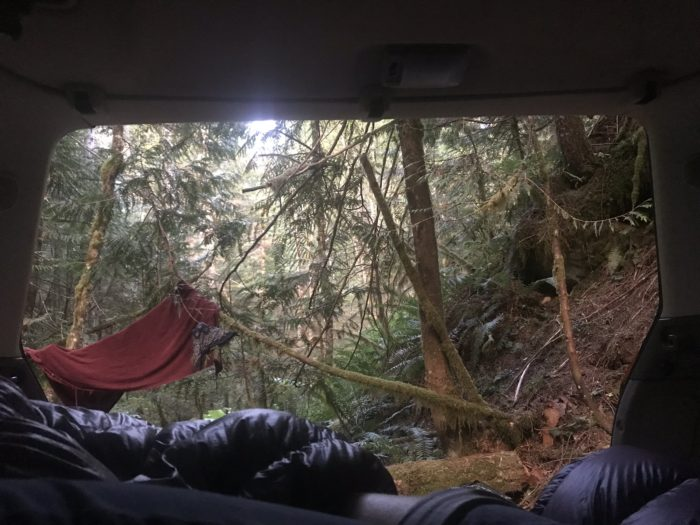 Living out of a car isn't great for post trail depression