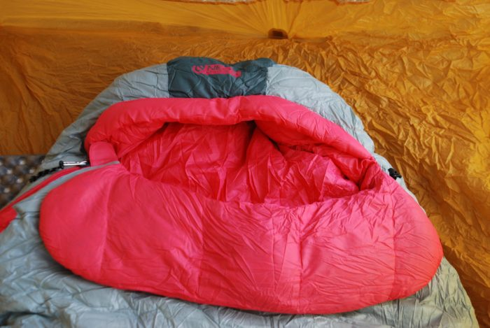 The blanket fold of the NEMO Riff Sleeping Bag.