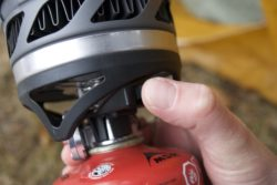 Push start ignition on the JetBoil MicroMo