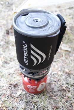 The JetBoil MicroMo backpacking stove