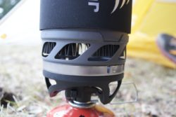 The windshield on the JetBoil MicroMo