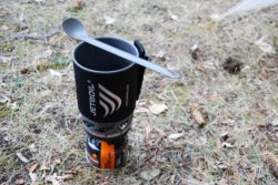 The JetBoil MicroMo Backpacking Stove.