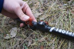 The MSR Explore Backcountry trekking poles have tension locks.