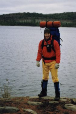 In the early days, my pack often ballooned over 50lbs - Dudley, Algonquin Park, Ontario, 1990