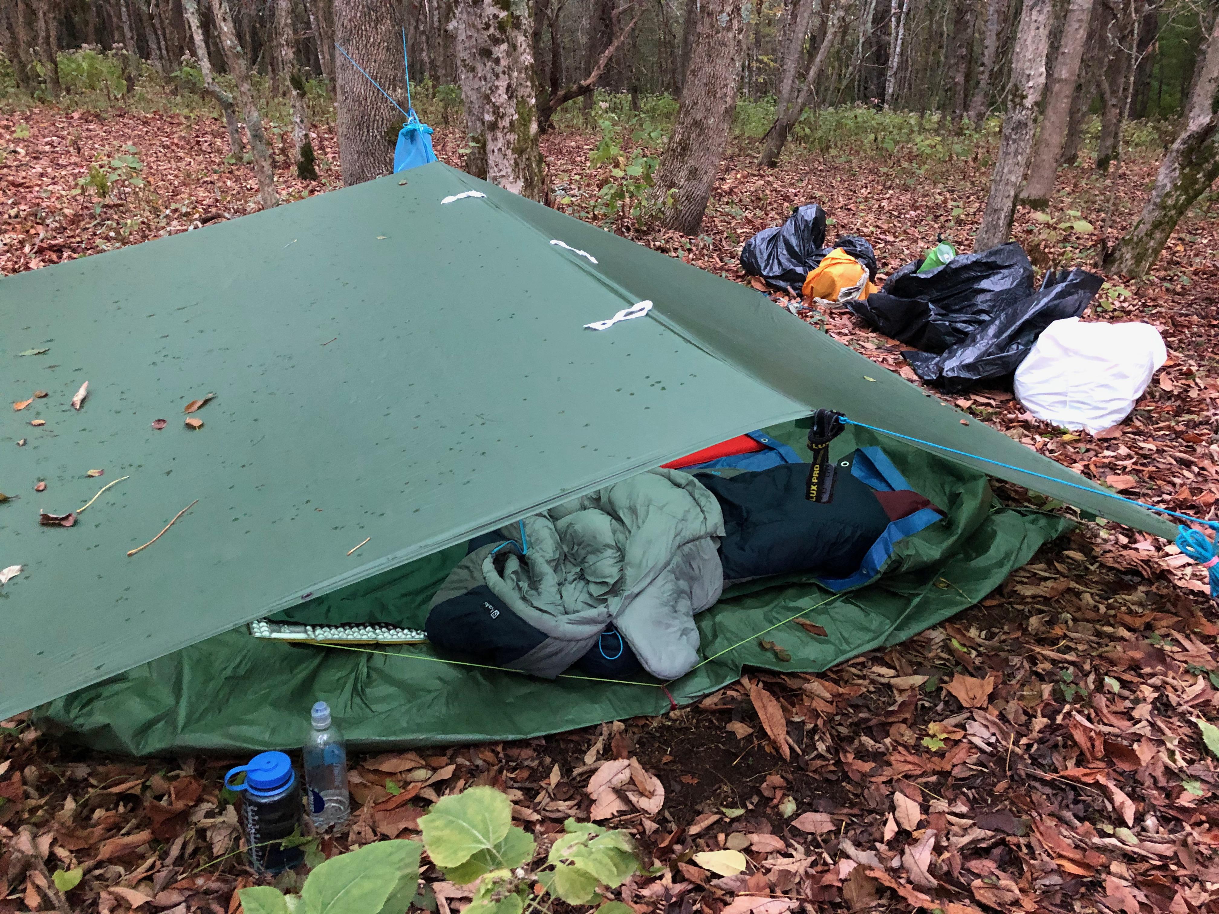 photo of tarp at camp