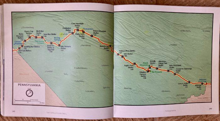sarah jones decker appalachian trail shelter map pennsylvania