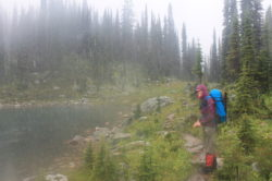 Me getting absolutely soaked in Mt Revelstoke NP