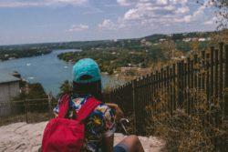 Image in Austin Texas overlooking water.