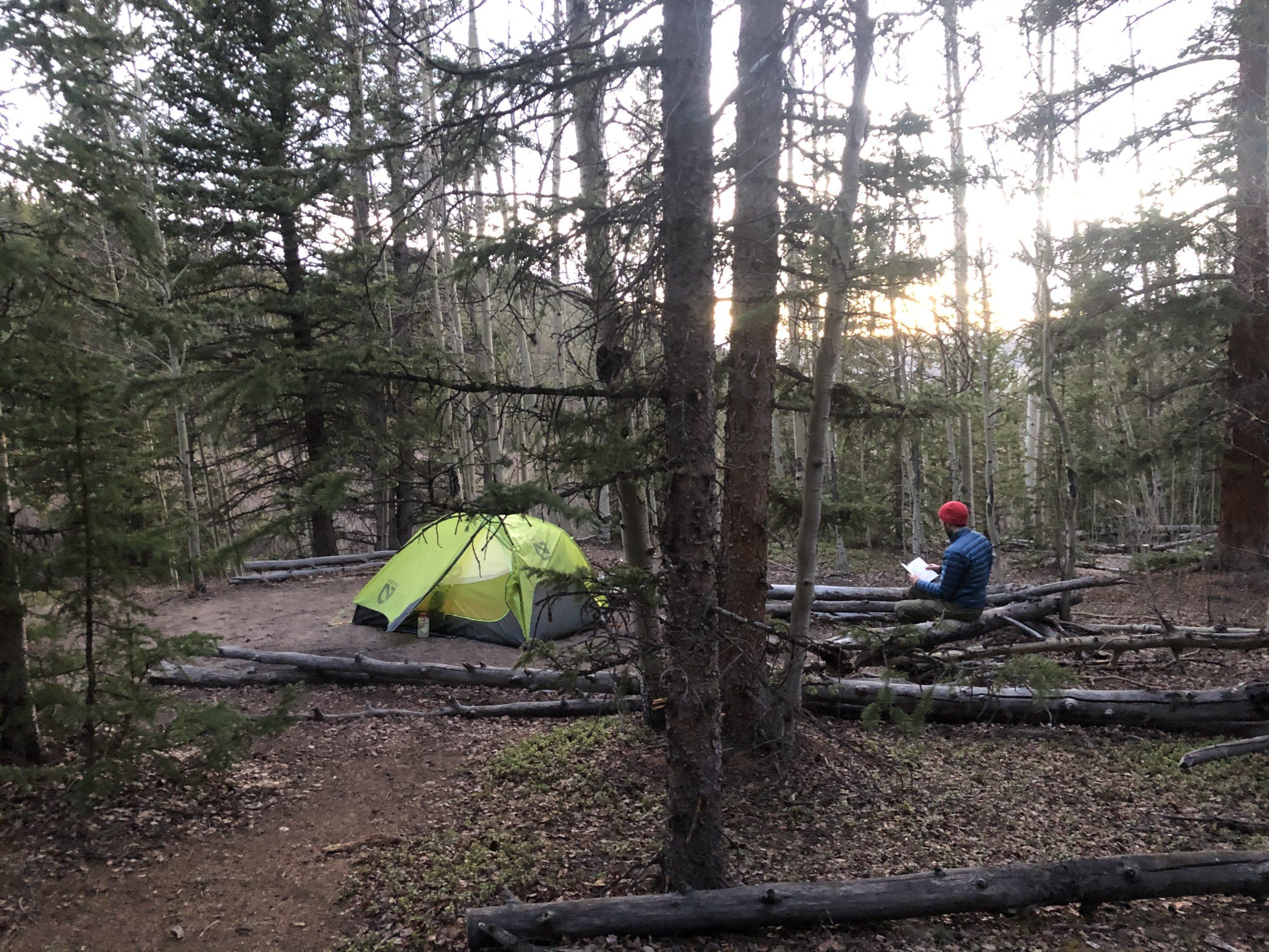 Saturday night campsite