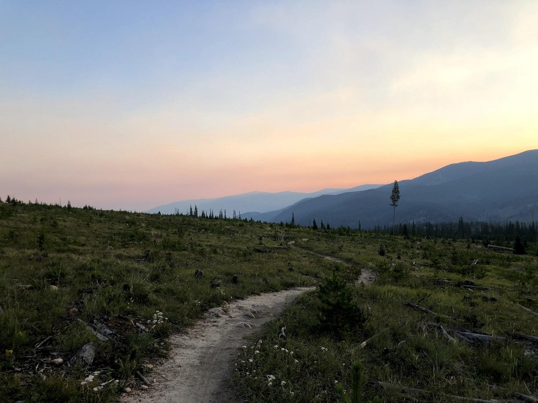 Sunrise on the trail