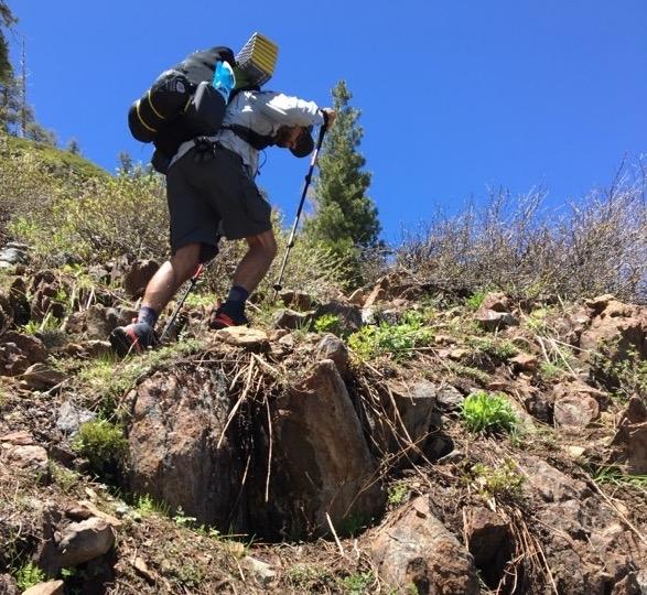 Hoka One One Stinson Mid GTX Hiking Shoe - rocky terrain