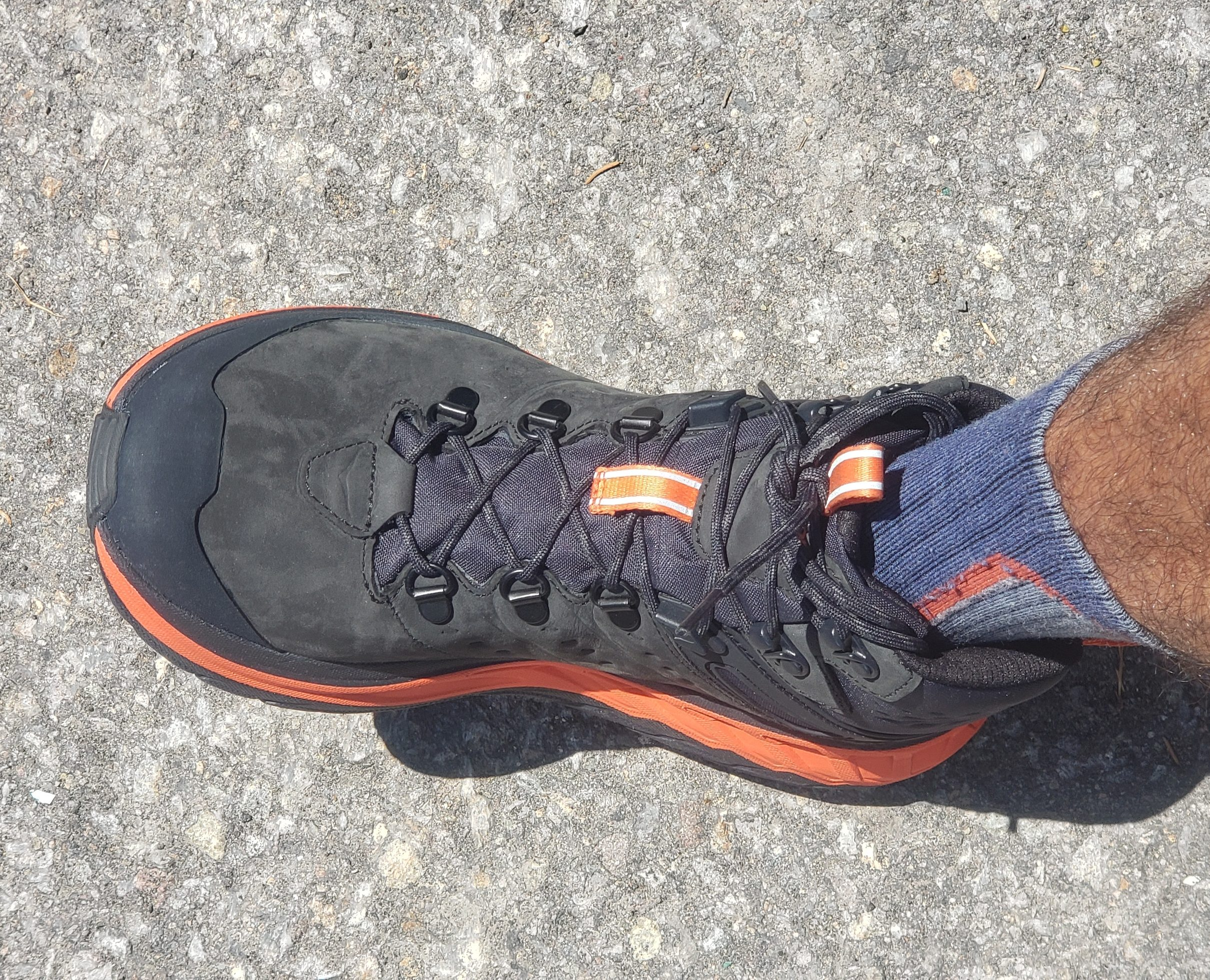 Hoka One One Stinson Mid GTX Hiking Shoe - lacing