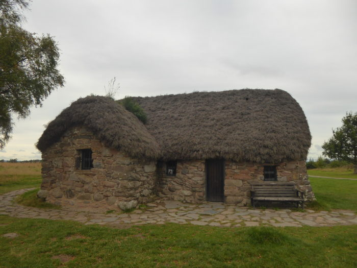 The little thatched cottage at Culloden Battlefield