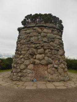 A memorial at Culloden