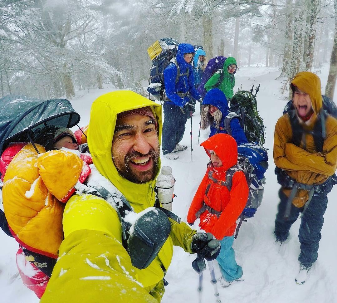 ben crawford appalachiann trail snow