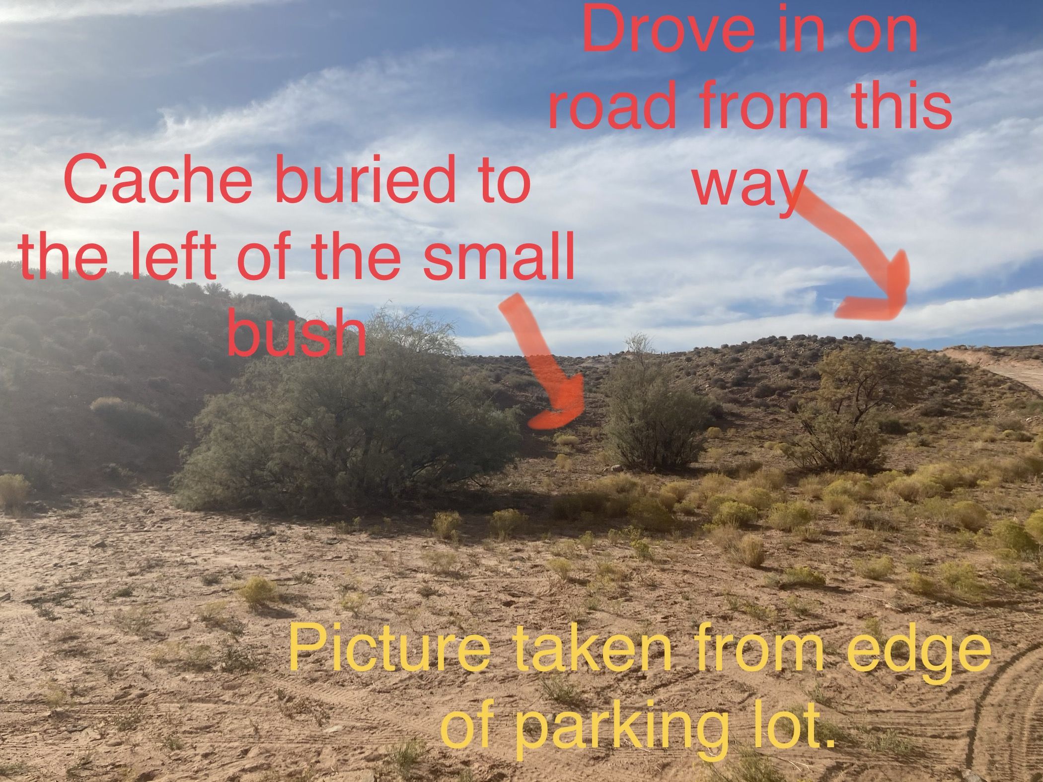 Example of notes to find food and water cache on the Hayduke