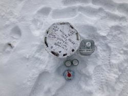 A cache that a hiker uncovered on their Hayduke journey