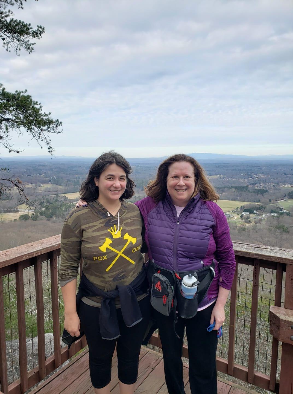 hikers on sawnee mountain