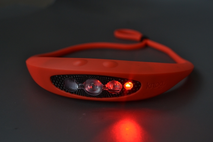 Knog Bilby Headlamp Review - red light mode PC Tucker Ballister