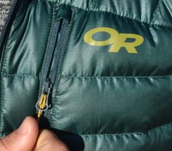 Outdoor Research Mens Helium Down Jacket Review - chest pocket PC Tucker Ballister