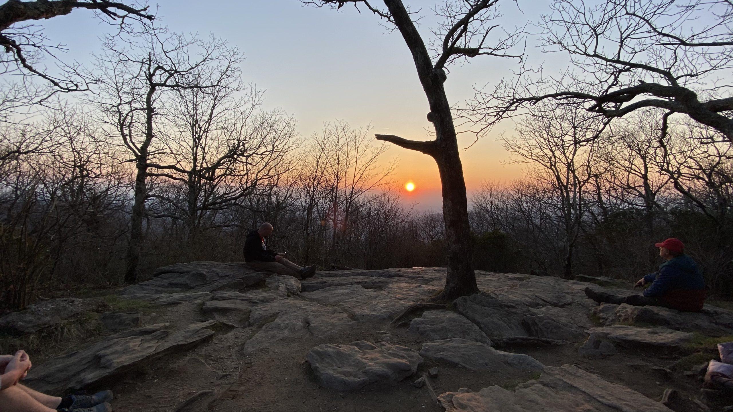 Sunset on Springer Mountain.