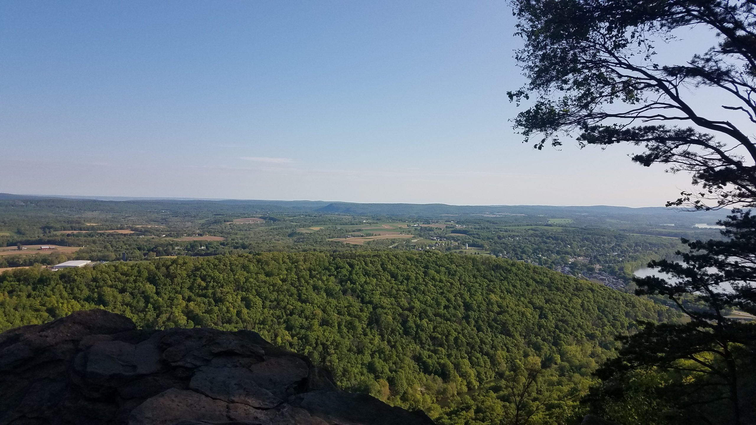 A cliff overlooking the PA countryside