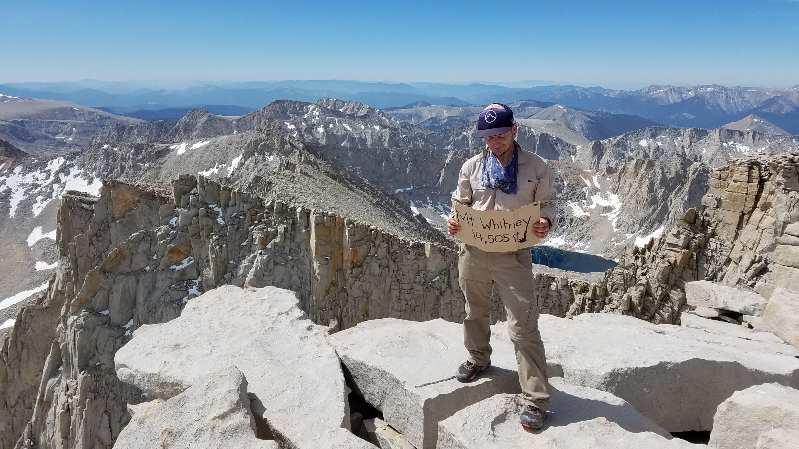 Mt Whitney summit