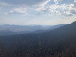 a smoky mountain view