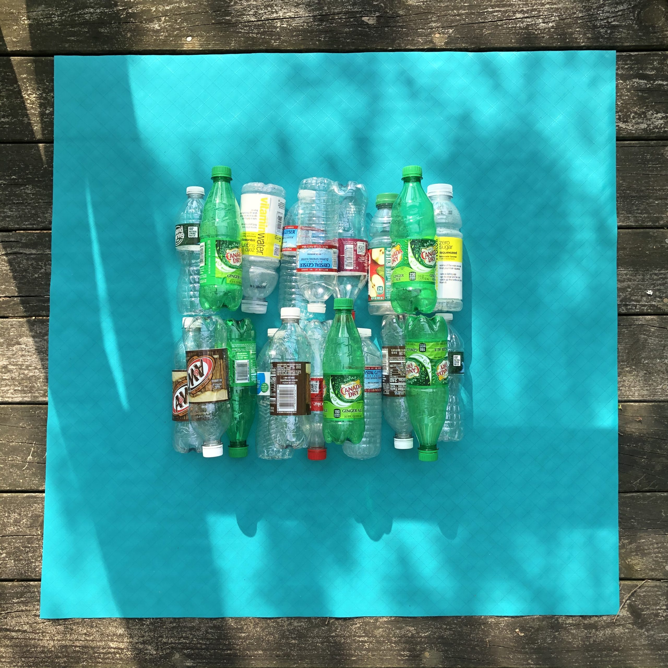 20 bottles are recycled into each yard of epx200